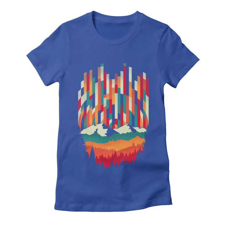 Sunset in Vertical - Multicolor Women's Fitted T-Shirt by Dianne Delahunty's Artist Shop