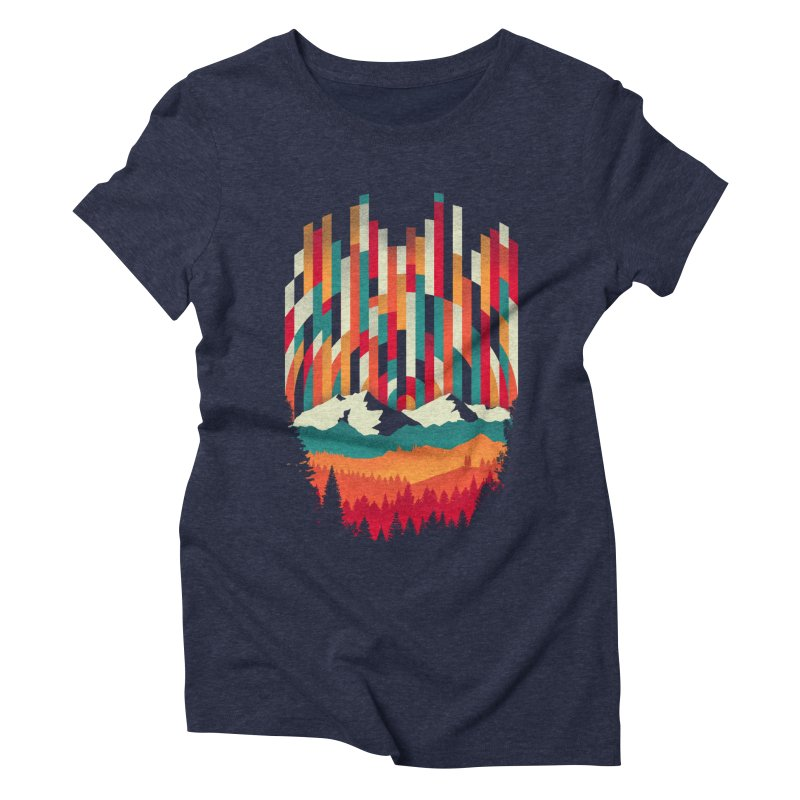 Sunset in Vertical - Multicolor Women's Triblend T-Shirt by Dianne Delahunty's Artist Shop