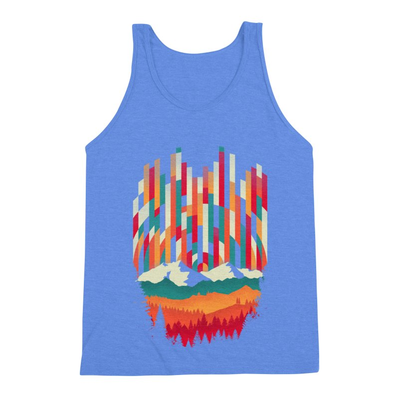 Sunset in Vertical - Multicolor Men's Triblend Tank by Dianne Delahunty's Artist Shop