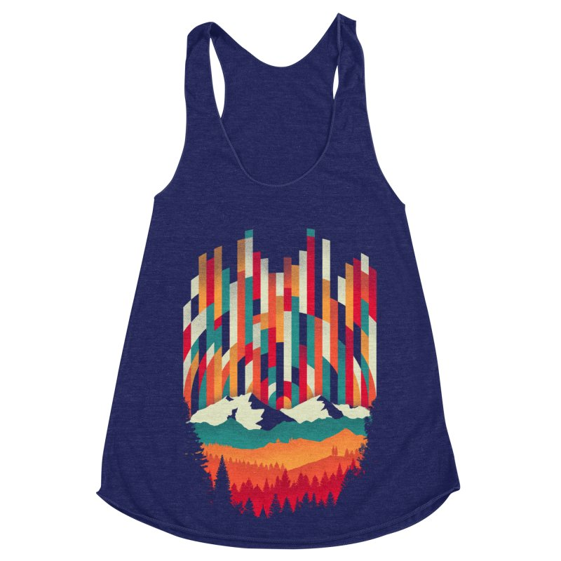Sunset in Vertical - Multicolor Women's Racerback Triblend Tank by Dianne Delahunty's Artist Shop