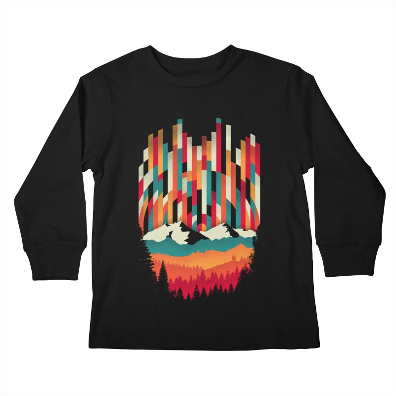 Sunset in Vertical - Multicolor Kids Longsleeve T-Shirt by Dianne Delahunty's Artist Shop