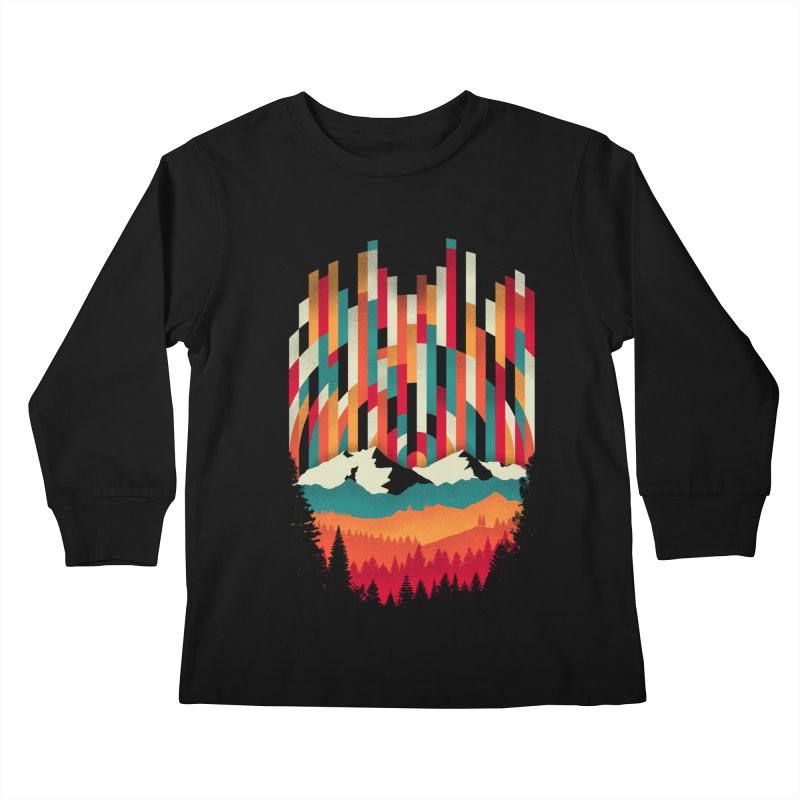 Sunset in Vertical - Multicolor Kids Longsleeve T-Shirt by Dianne Delahunty's Artist Shop