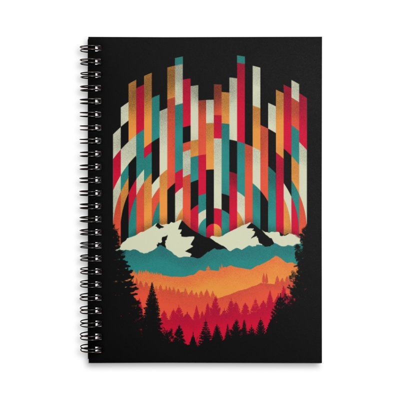 Sunset in Vertical - Multicolor Accessories Lined Spiral Notebook by Dianne Delahunty's Artist Shop