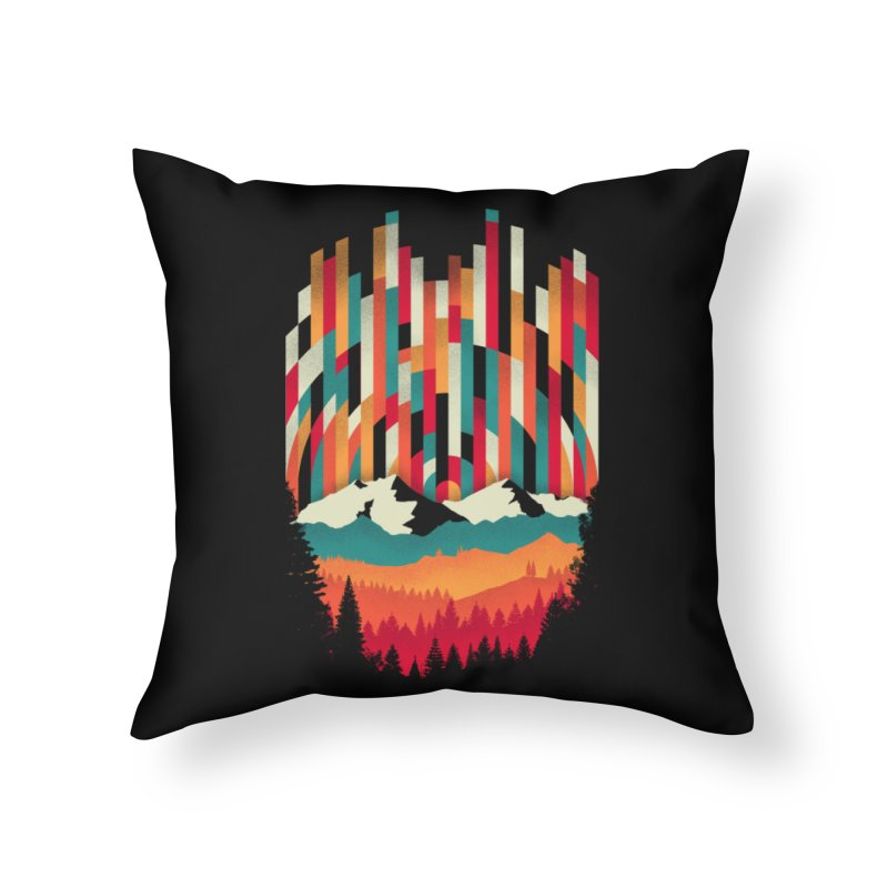 Sunset in Vertical - Multicolor Home Throw Pillow by Dianne Delahunty's Artist Shop