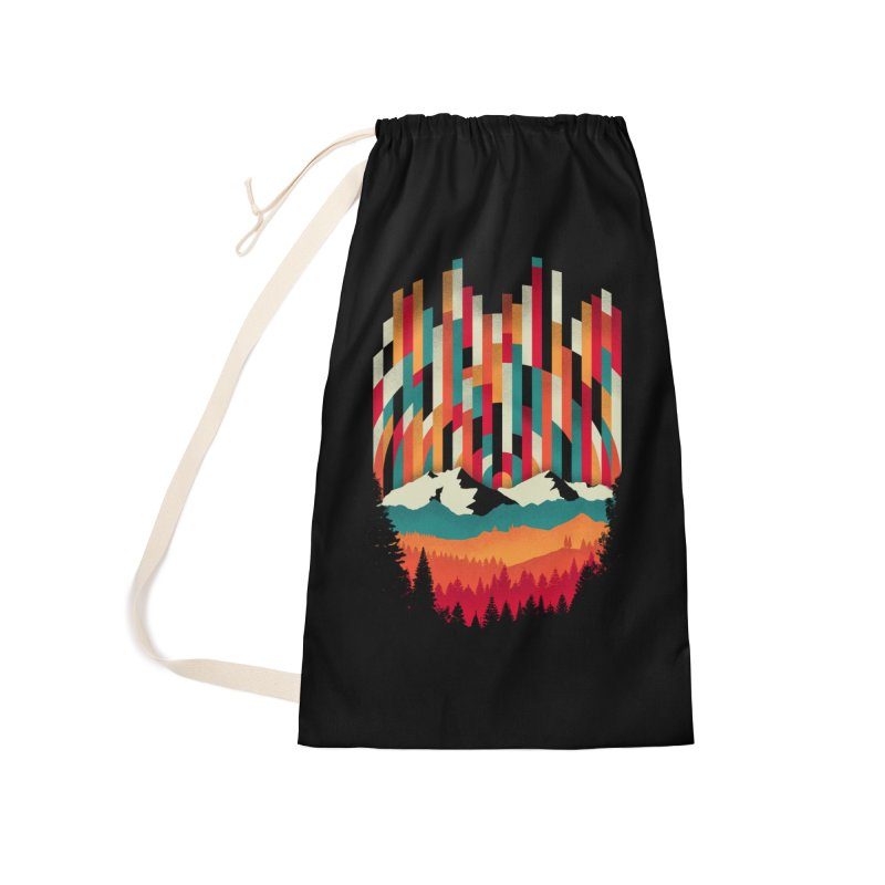 Sunset in Vertical - Multicolor Accessories Laundry Bag Bag by Dianne Delahunty's Artist Shop