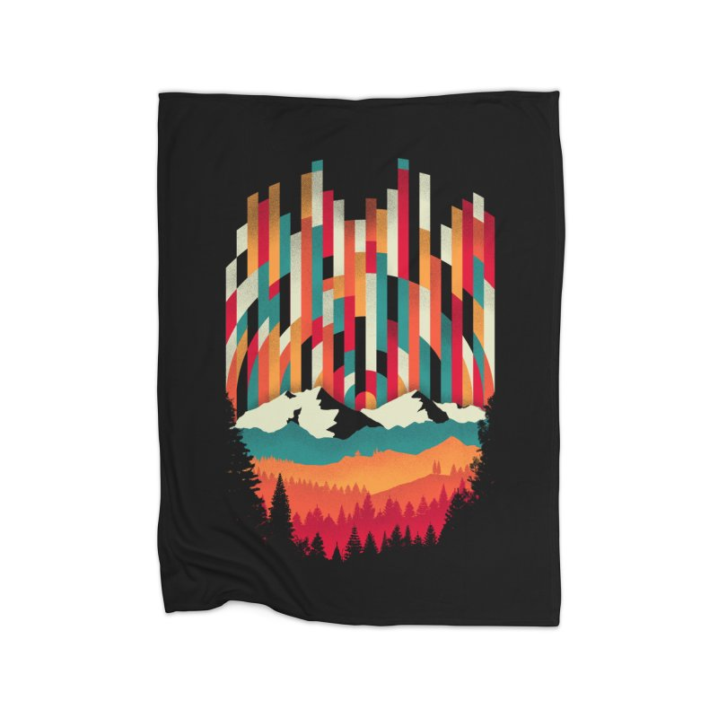 Sunset in Vertical - Multicolor Home Fleece Blanket Blanket by Dianne Delahunty's Artist Shop