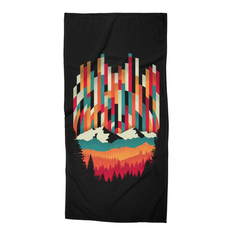 Sunset in Vertical - Multicolor Accessories Beach Towel by Dianne Delahunty's Artist Shop