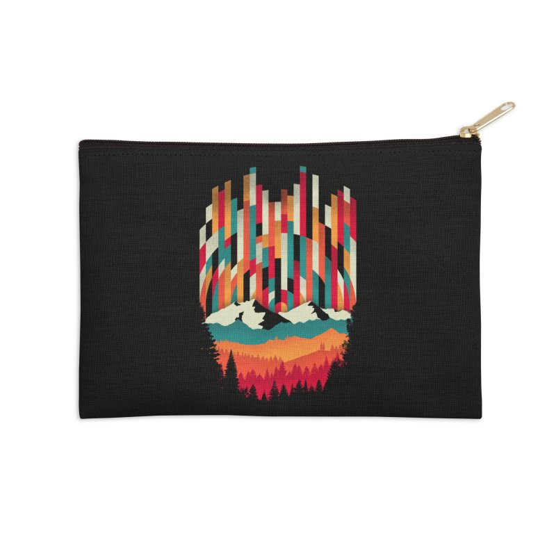Sunset in Vertical - Multicolor Accessories Zip Pouch by Dianne Delahunty's Artist Shop