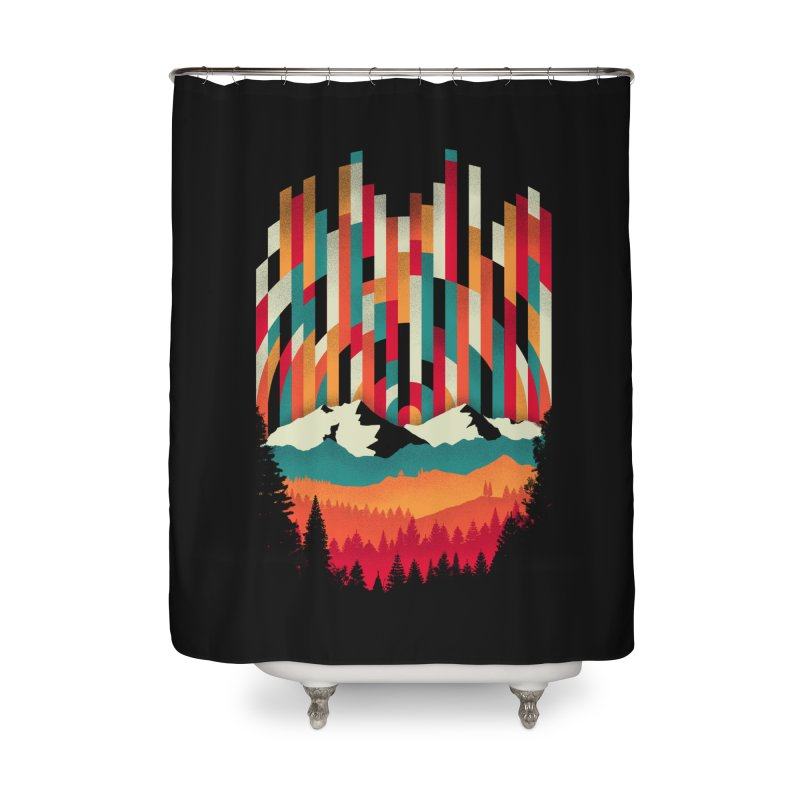 Sunset in Vertical - Multicolor Home Shower Curtain by Dianne Delahunty's Artist Shop