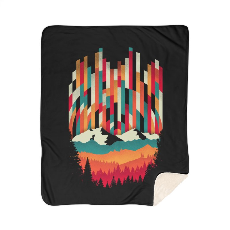 Sunset in Vertical - Multicolor Home Sherpa Blanket Blanket by Dianne Delahunty's Artist Shop