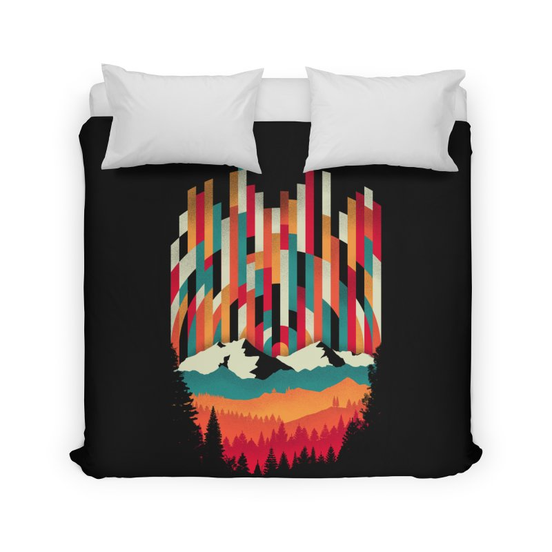 Sunset in Vertical - Multicolor Home Duvet by Dianne Delahunty's Artist Shop