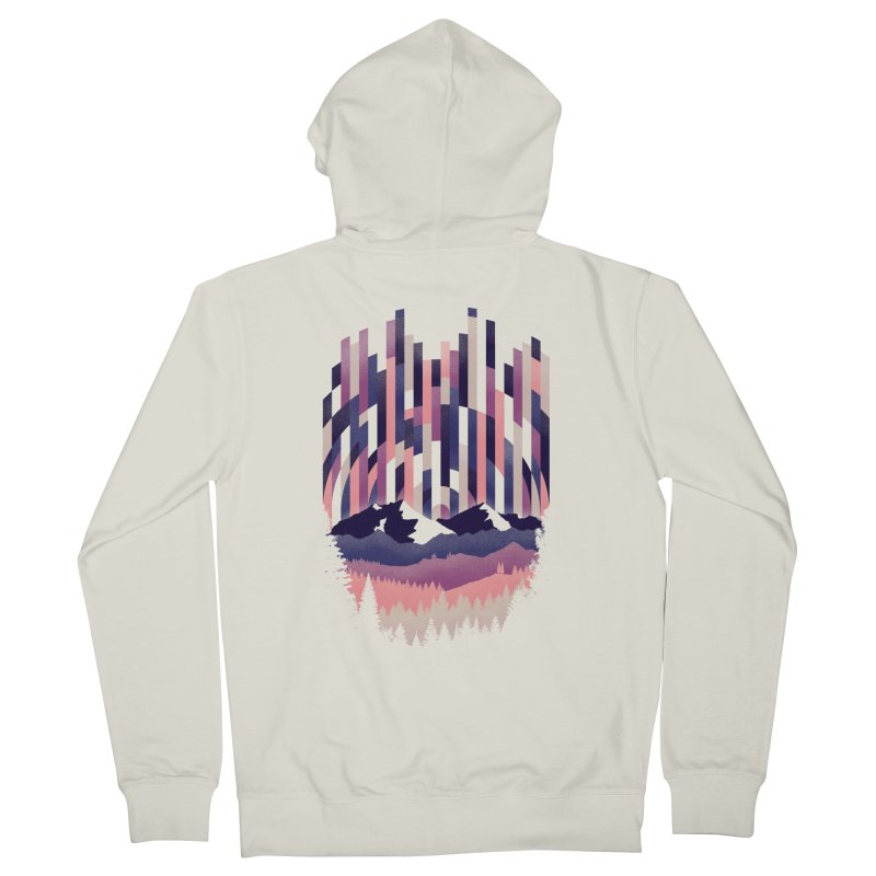 Sunrise in Vertical - Winter Dawn Men's French Terry Zip-Up Hoody by Dianne Delahunty's Artist Shop