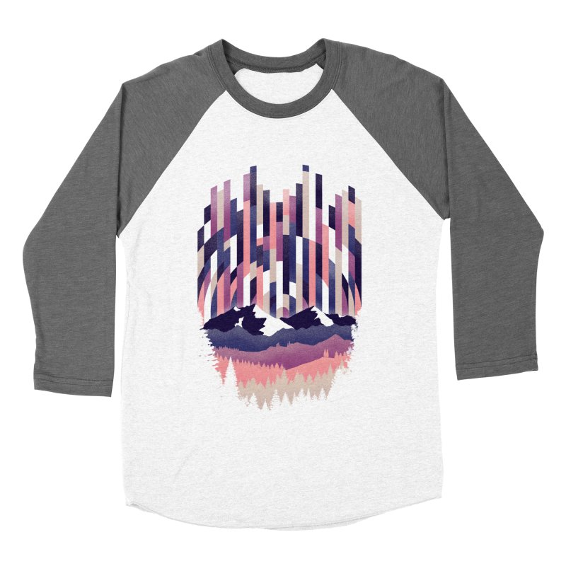 Sunrise in Vertical - Winter Dawn Men's Baseball Triblend Longsleeve T-Shirt by Dianne Delahunty's Artist Shop