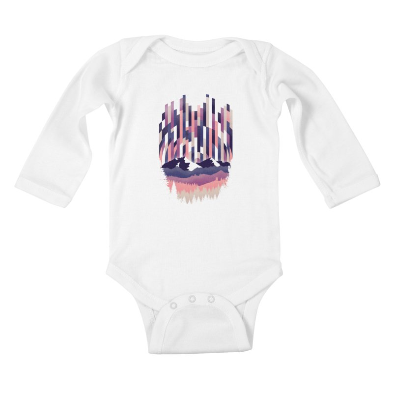 Sunrise in Vertical - Winter Dawn Kids Baby Longsleeve Bodysuit by Dianne Delahunty's Artist Shop
