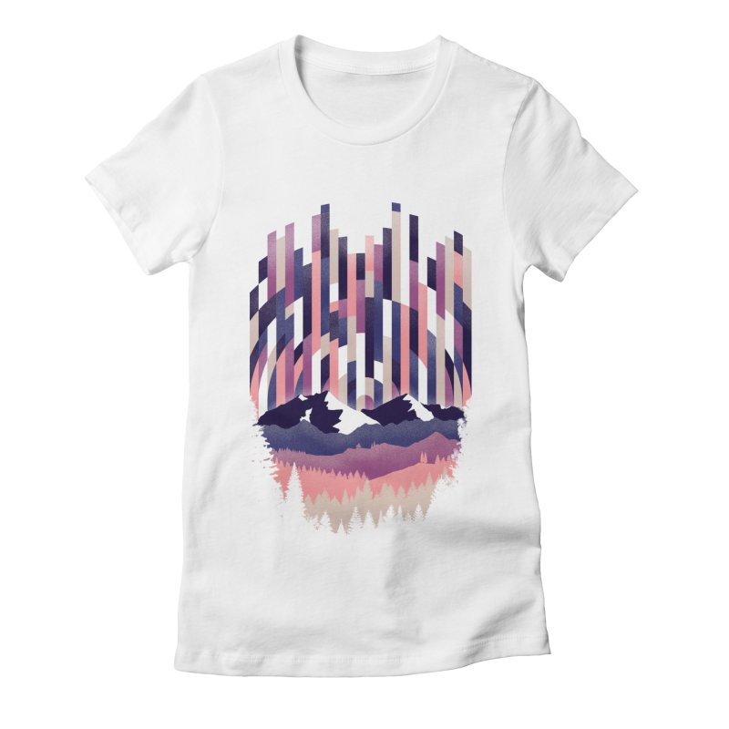 Sunrise in Vertical - Winter Dawn Women's Fitted T-Shirt by Dianne Delahunty's Artist Shop