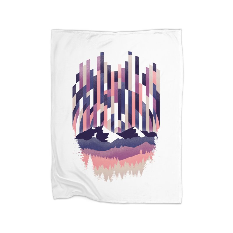 Sunrise in Vertical - Winter Dawn Home Blanket by Dianne Delahunty's Artist Shop