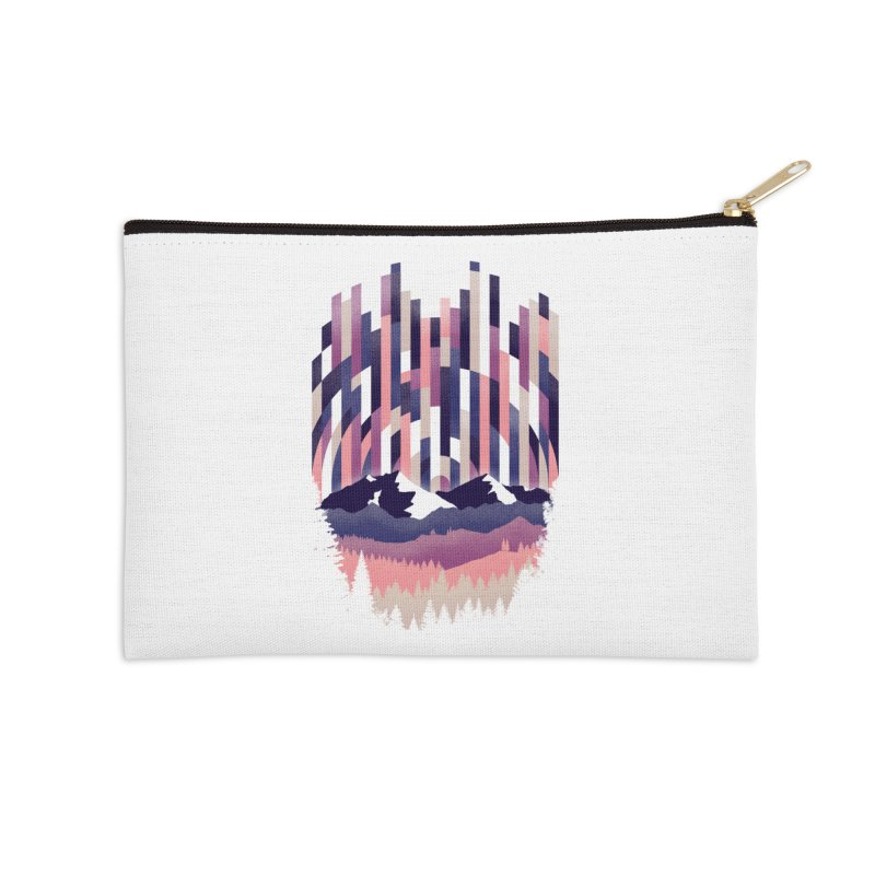 Sunrise in Vertical - Winter Dawn Accessories Zip Pouch by Dianne Delahunty's Artist Shop