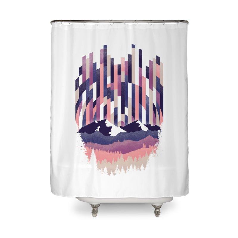 Sunrise in Vertical - Winter Dawn Home Shower Curtain by Dianne Delahunty's Artist Shop