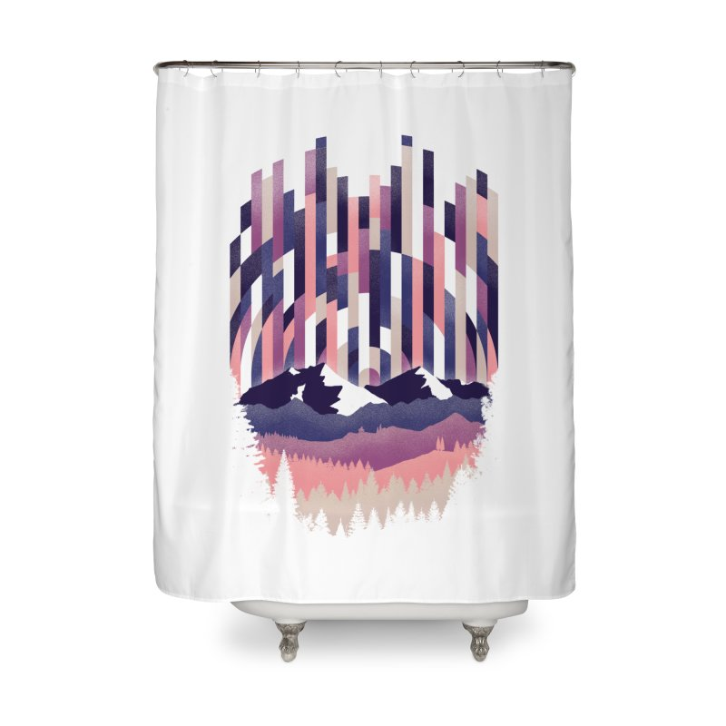 Sunrise in Vertical - Winter Dawn Home Shower Curtain by Dianne Delahunty's Artist Shop