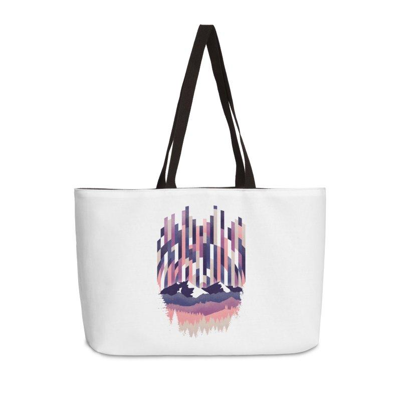 Sunrise in Vertical - Winter Dawn Accessories Weekender Bag Bag by Dianne Delahunty's Artist Shop