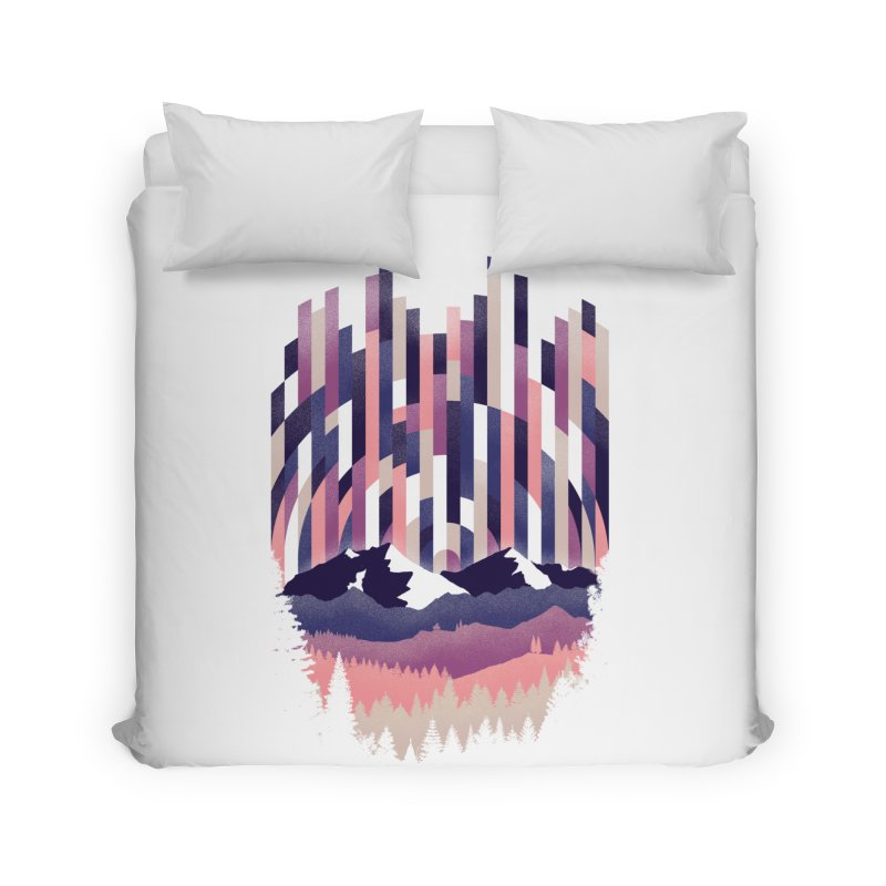 Sunrise in Vertical - Winter Dawn Home Duvet by Dianne Delahunty's Artist Shop