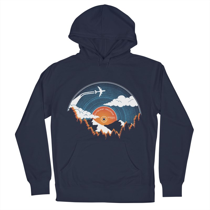 Sunburst Records Redux Women's French Terry Pullover Hoody by Dianne Delahunty's Artist Shop