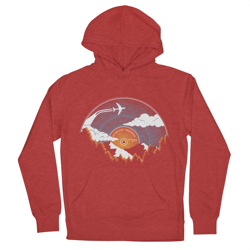 Sunburst Records Redux Men's French Terry Pullover Hoody by Dianne Delahunty's Artist Shop