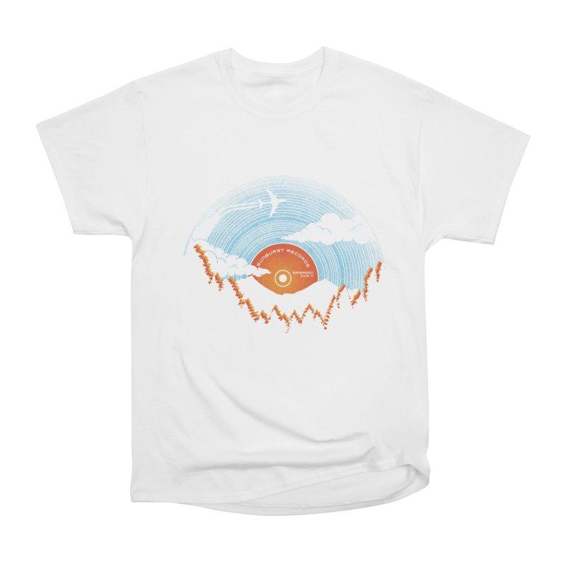 Sunburst Records Redux Women's Heavyweight Unisex T-Shirt by Dianne Delahunty's Artist Shop