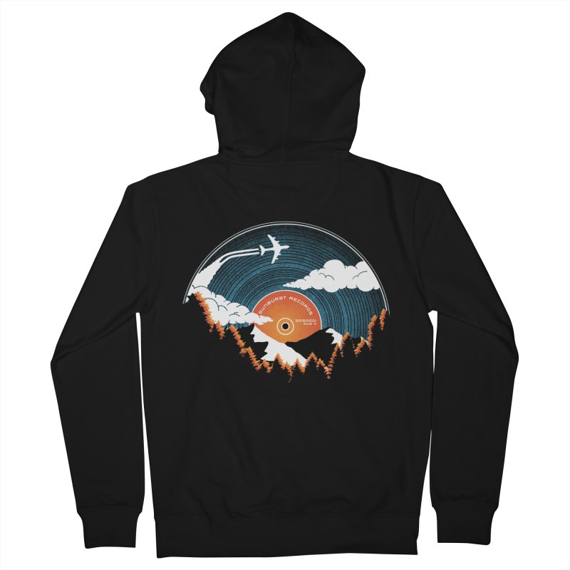 Sunburst Records Redux Women's French Terry Zip-Up Hoody by Dianne Delahunty's Artist Shop