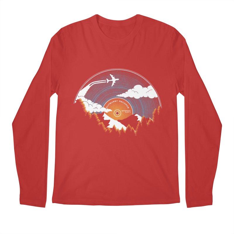 Sunburst Records Redux Men's Regular Longsleeve T-Shirt by Dianne Delahunty's Artist Shop