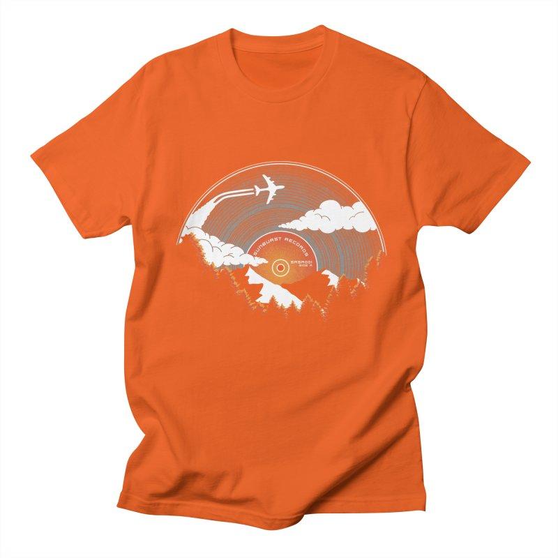 Sunburst Records Redux Men's Regular T-Shirt by Dianne Delahunty's Artist Shop