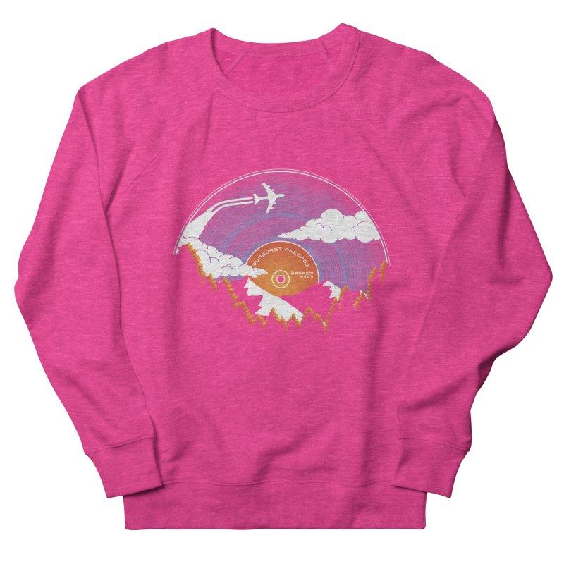 Sunburst Records Redux Women's French Terry Sweatshirt by Dianne Delahunty's Artist Shop