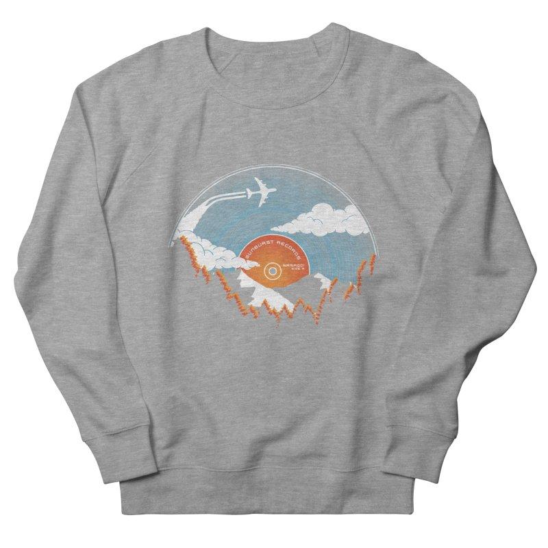 Sunburst Records Redux Men's French Terry Sweatshirt by Dianne Delahunty's Artist Shop