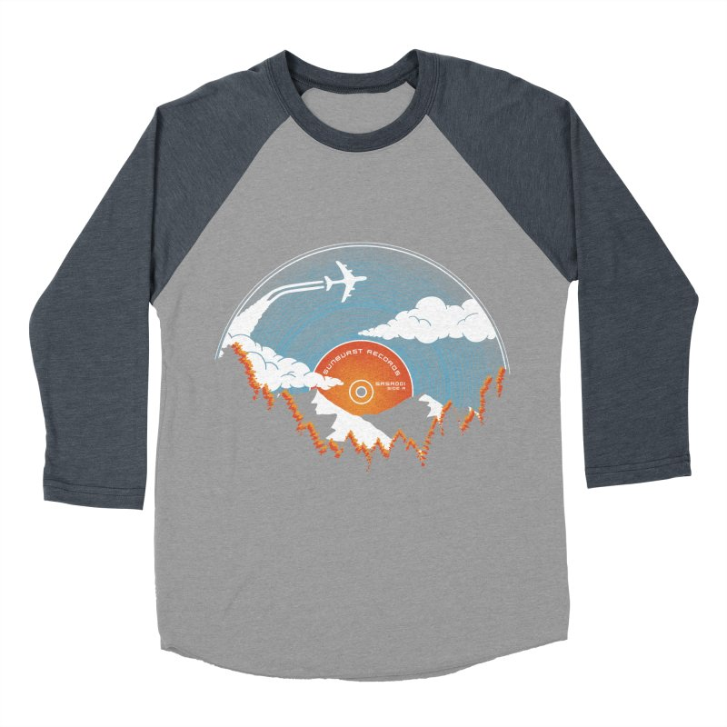 Sunburst Records Redux Women's Baseball Triblend Longsleeve T-Shirt by Dianne Delahunty's Artist Shop