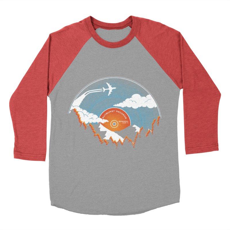 Sunburst Records Redux Men's Baseball Triblend T-Shirt by Dianne Delahunty's Artist Shop