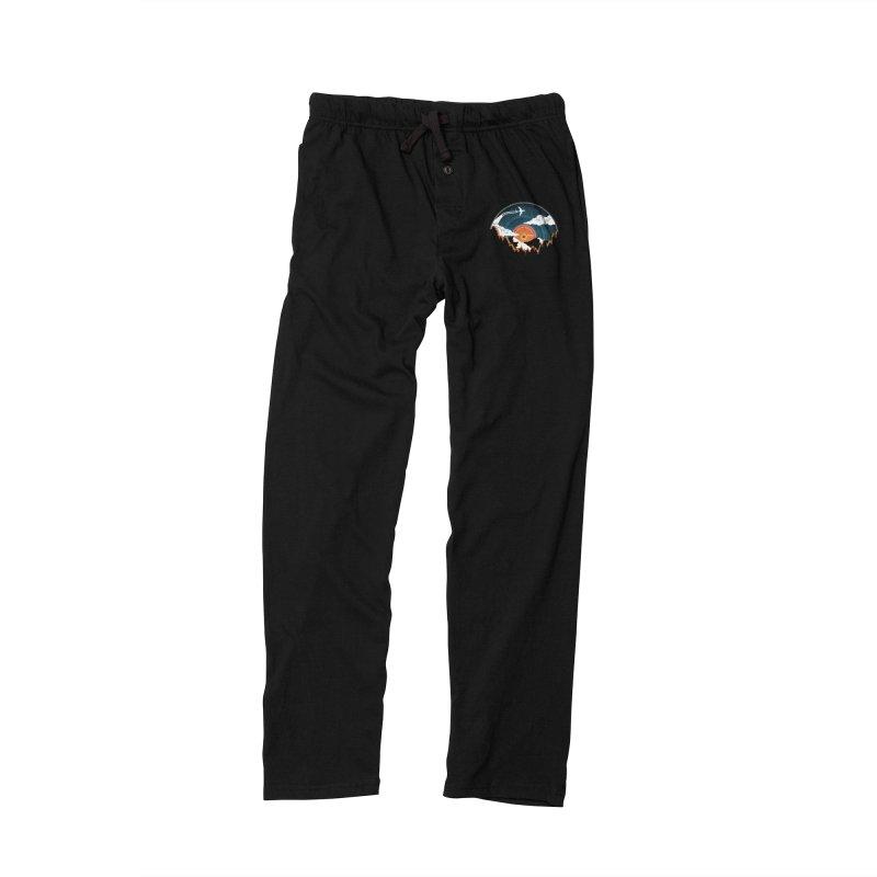 Sunburst Records Redux Men's Lounge Pants by Dianne Delahunty's Artist Shop