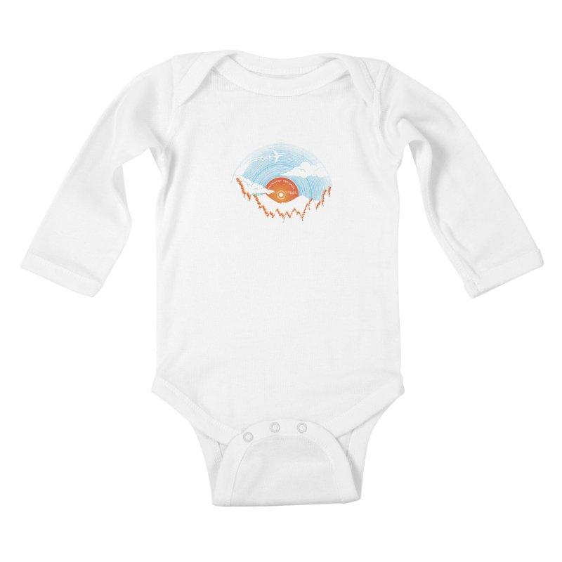Sunburst Records Redux Kids Baby Longsleeve Bodysuit by Dianne Delahunty's Artist Shop