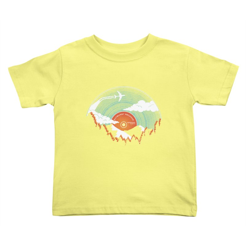 Sunburst Records Redux Kids Toddler T-Shirt by Dianne Delahunty's Artist Shop