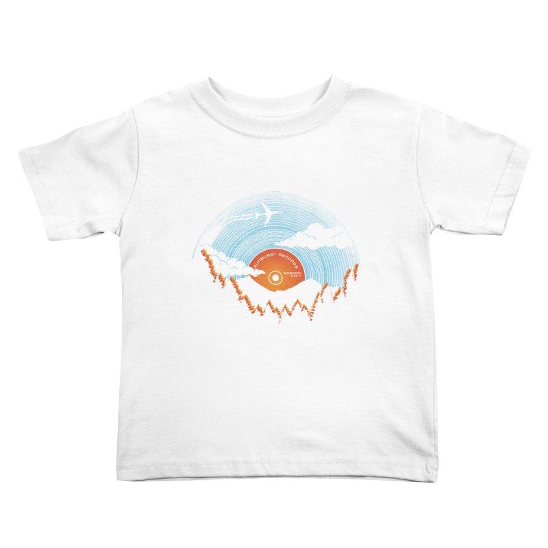 Sunburst Records Redux Kids Toddler T-Shirt by Dianne Delahunty's Artist Shop