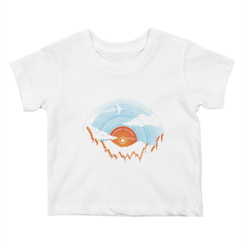 Sunburst Records Redux Kids Baby T-Shirt by Dianne Delahunty's Artist Shop