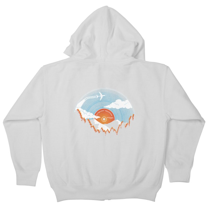 Sunburst Records Redux Kids Zip-Up Hoody by Dianne Delahunty's Artist Shop