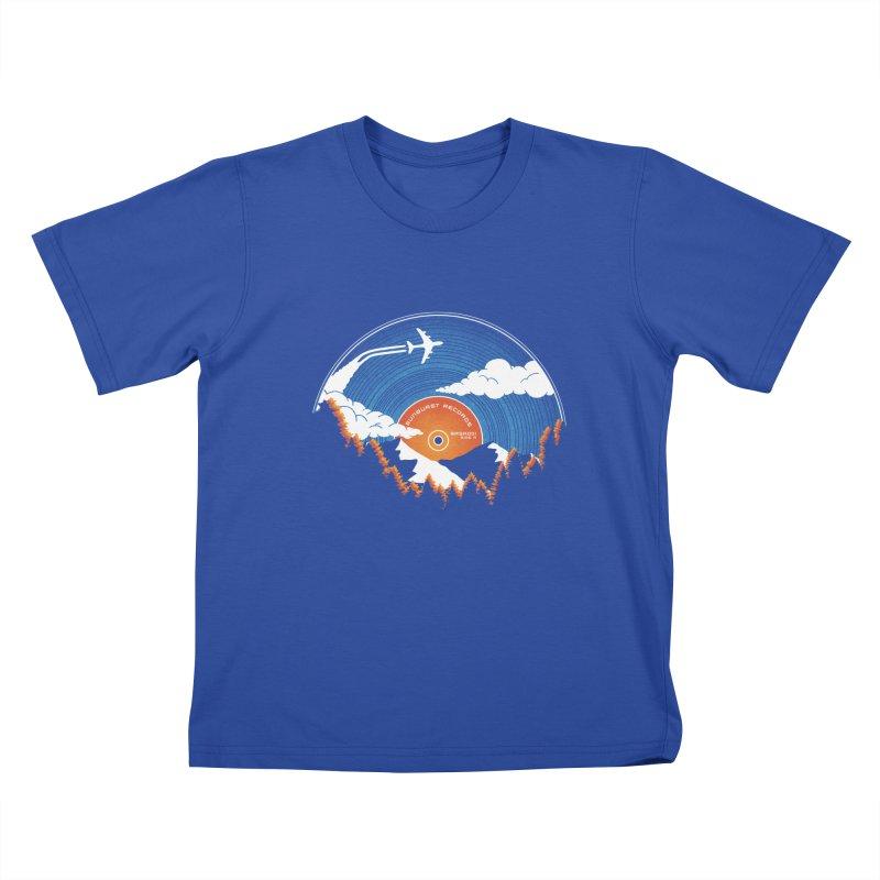 Sunburst Records Redux Kids T-Shirt by Dianne Delahunty's Artist Shop