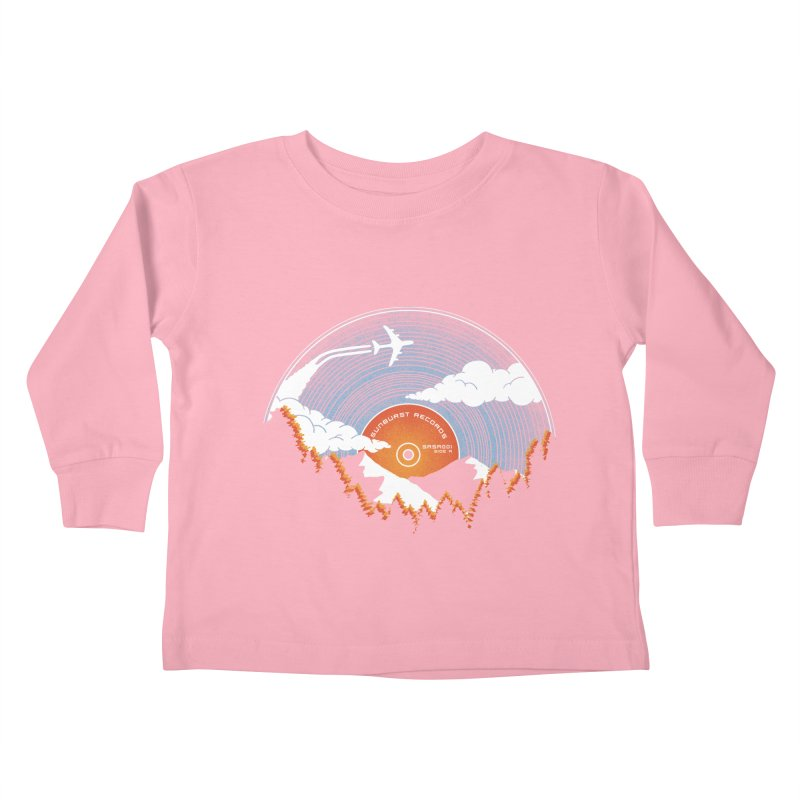 Sunburst Records Redux Kids Toddler Longsleeve T-Shirt by Dianne Delahunty's Artist Shop