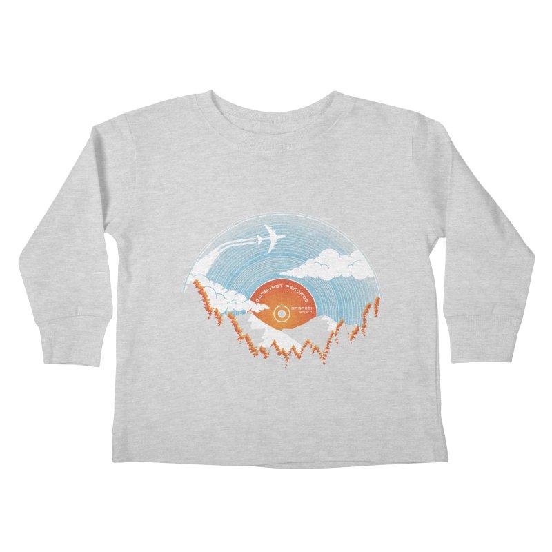 Sunburst Records Redux Kids Toddler Longsleeve T-Shirt by Dianne Delahunty's Artist Shop