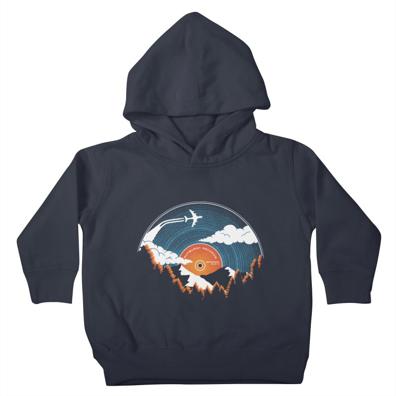 Sunburst Records Redux Kids Toddler Pullover Hoody by Dianne Delahunty's Artist Shop