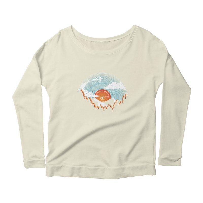 Sunburst Records Redux Women's Scoop Neck Longsleeve T-Shirt by Dianne Delahunty's Artist Shop