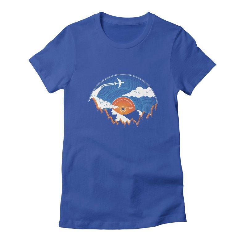 Sunburst Records Redux Women's Fitted T-Shirt by Dianne Delahunty's Artist Shop