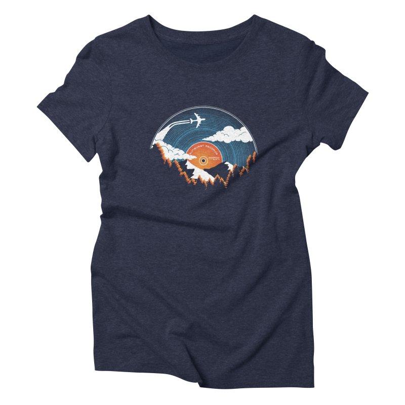 Sunburst Records Redux Women's Triblend T-Shirt by Dianne Delahunty's Artist Shop