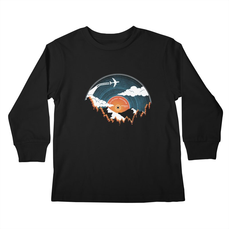 Sunburst Records Redux Kids Longsleeve T-Shirt by Dianne Delahunty's Artist Shop