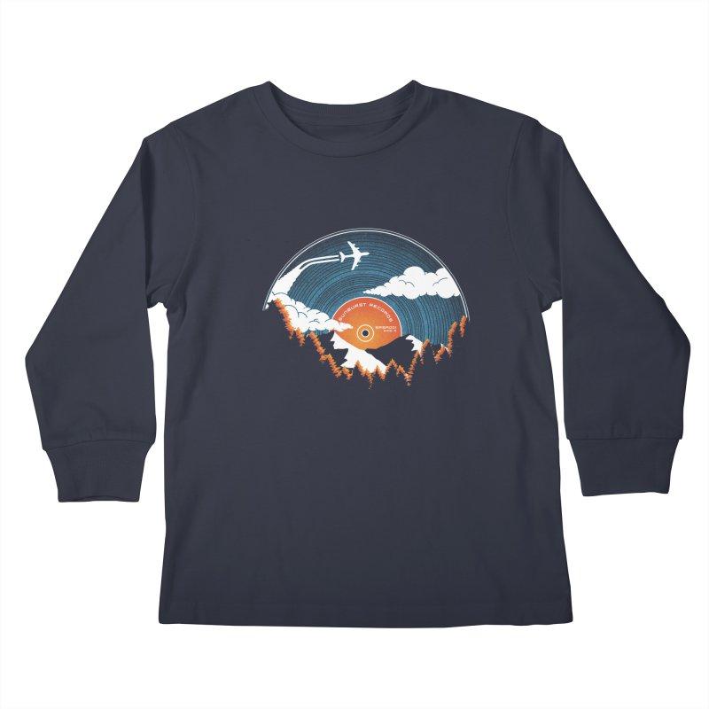 Sunburst Records Redux Kids Longsleeve T-Shirt by Dianne Delahunty's Artist Shop